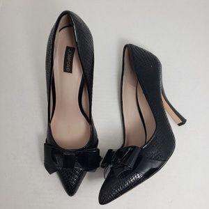 Joan & David Black Closed Toe Slip-On Heels Sz 8.5